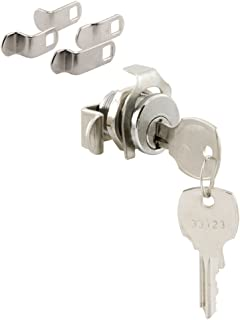 Prime-Line S 4573 Mailbox Lock – Replace Damaged or Missing Mailbox Locks, 90 Degree Rotation, Opens Counter-Clockwise, National Keyway, Nickel Finish