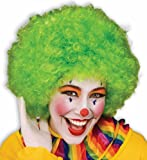 Unisex Afro Wig/ Assorted Color Clown Wigs, Green, One Size