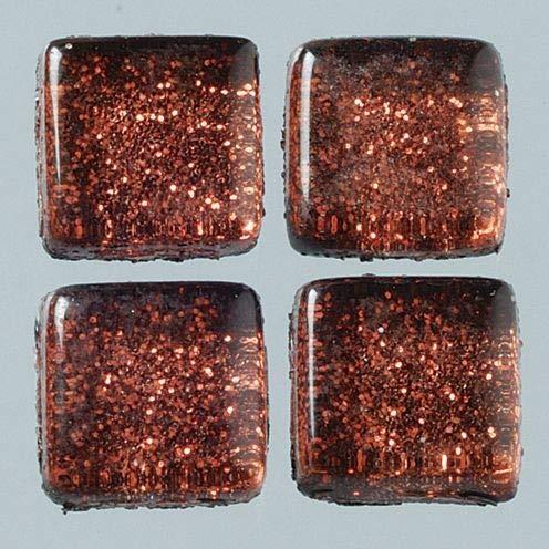 MosaixPro 10x 10x 4mm 200g 215-piece Glas Fliesen, Glitter Braun