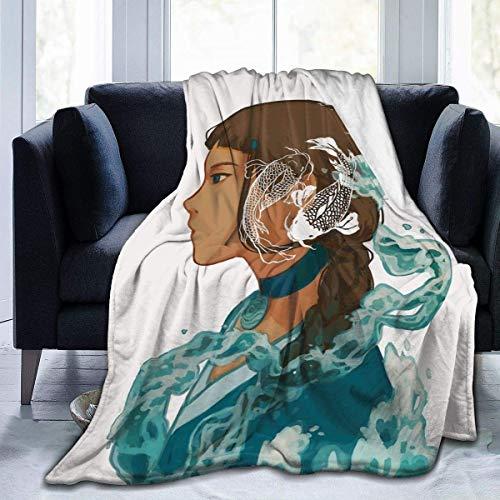 XCNGG Manta de Felpa de Franela Ultra Suave Avatar The Last Legend Airbender Atla Comics Anime Mang Katara All Season Ligera Sala de Estar Dormitorio Sofá Edredón 80 'X60' para Adultos