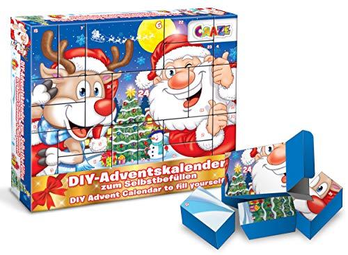 CRAZE 25345 Adventskalender Christmas Weihnachtskalender Weihnachten für Mädchen Jungen Spielzeugkalender, kreative Inhalte, Tolle Überraschungen
