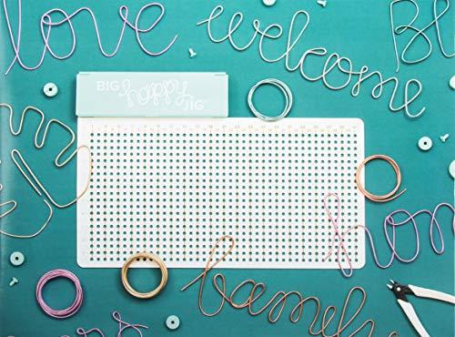 Rayher 50113000 Big Happy Jig Drahtbiege Steckbrett, We R Memory Keepers, 59-teilig, 43,8 x 29,7 cm, zum Biegen von Draht für Wörter, Formen, Motive usw.