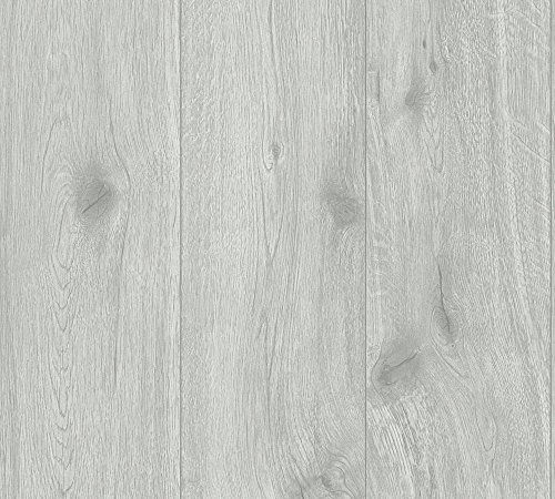 A.S. Création Vliestapete Best of Wood`n Stone 2nd Edition Tapete in Holz Optik fotorealistische Holztapete 10,05 m x 0,53 m grau Made in Germany 300433 30043-3