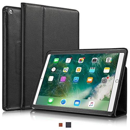 """KAVAJ Lederhülle Berlin geeignet für Apple iPad 8 iPad 7 2020/2019 10.2\"""" Hülle Echtleder Case Schwarz aus echtem Leder mit Stand und Auto Schlaf/Aufwachen Funktion. Dünnes Smart-Cover Schutzhülle"""