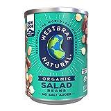 Westbrae Natural Organic Salad Beans, No Salt Added, 15 Oz (Pack of 12)