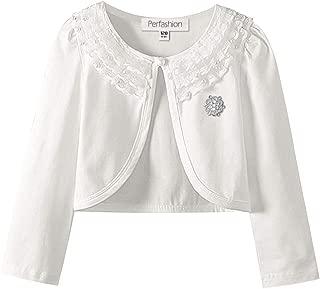 Girls Long Sleeve Lace Bolero Shrugs Cotton Pink Cardigan Party Dress Cover Up