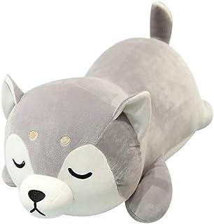 DXMRWJ Auspicious Beginning Shiba Inu Plush Throw Pillow Cute Corgi Akita Stuffed Animal Soft Plush Doll Dog Kawaii Plush Toy