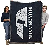 Pure Country Weavers Military - Spartan Molon Labe Come and Take It - Blanket Throw Woven from Cotton - Made in The USA (72x54)