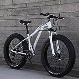 LJ Bicicleta, Bicicleta de Montaña Fat Tire para Hombre, Bicicleta de Nieve para Adultos de 26 Pulgadas, Bicicletas de Crucero con Freno de Disco Doble, Bicicleta de Playa, Ruedas Anchas 4.0, Verde,