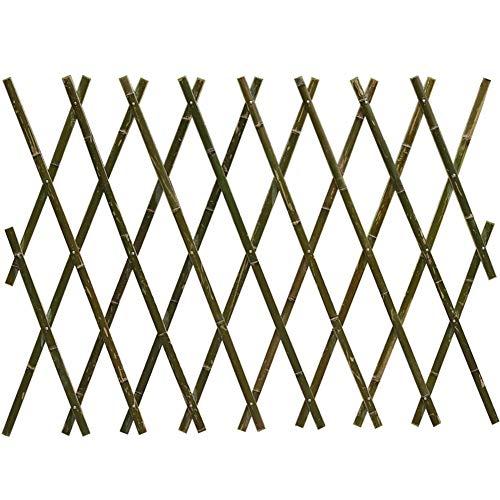 LIQICAI-WEILAN Clôtures Décoratives Clôture en Treillis Extensible Treillis Treillis d'escalade Bambou Pliable Décoratif pour Garden Patio Lawn, Facile À Installer, 2 Couleurs, 5 Tailles