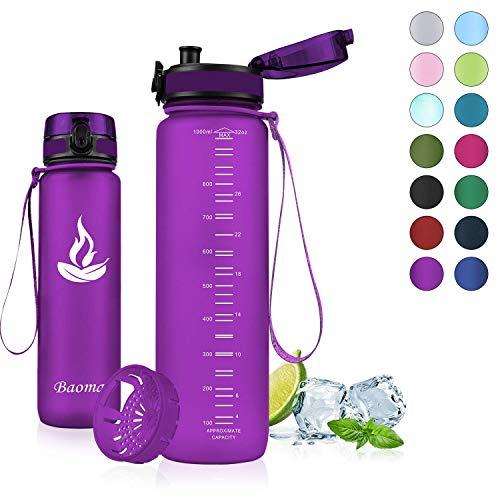Bester der welt Baomai Sportgetränkeflasche mit Sieb, 750 ml BPA-freie versiegelte Wasserflasche, Plastik…