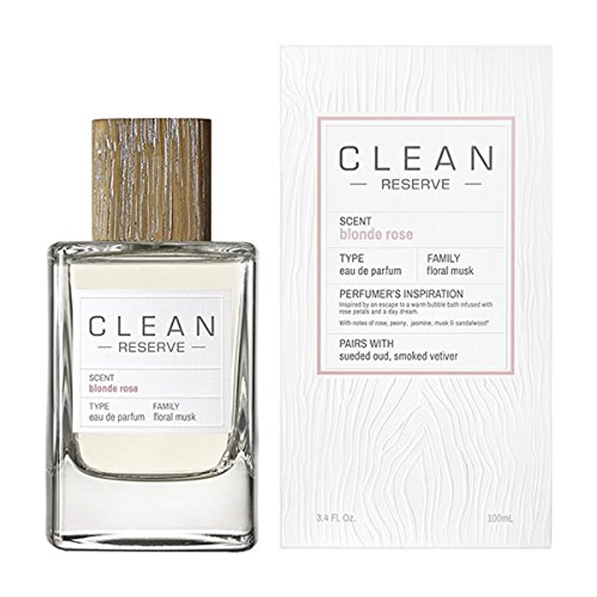 リットル悔い改めつなぐ◆【CLEAN】Unisex香水◆クリーン リザーブ ブロンドローズ オードパルファムEDP 100ml◆