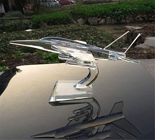 AMITD Crystal Glass Strike Fighter Plane Model Verisimilar miniatuur Military vliegtuig kunst & ambachtelijke ornamenten Home Decor Giften