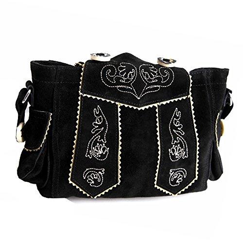 Almbock Trachten-Tasche Betti in schwarz - für Damen, modern, für Hochzeit oder...