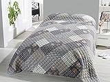 FashionundJoy XL Bettüberwurf Tagesdecke gesteppt 220x240 Steppdecke Patchwork Überwurf ÖKOTEX Decke Cottage Shabby Chic Landhaus Rosen Typ456