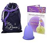 MeLuna Sport Copa Menstrual, Bola, Violeta Azulado, Talla M - 1 Unidad