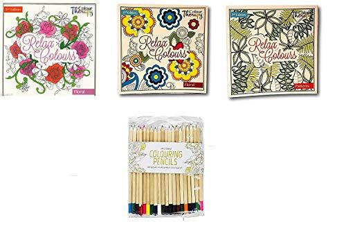 Invero® - Set di 2 album da colorare anti-stress per...