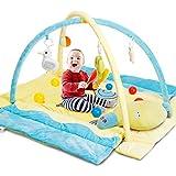CRZDEAL Gimnasio de Actividades para Bebés, Area de Juego para Bebé, Bolas de Colores y Almohadas de Animales, Material de Algodón Súper Suave, 110*105*68cm, Adecuado para Bebé de 0 a 36 Meses