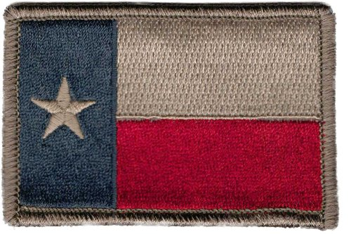 Texas Tactical Patch - Subdued Silver