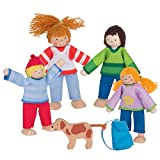 Goki 51863 Biegepuppen Camping-Familie