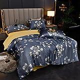 Funda Nordica Cama 150/135 Microfibra,Juego de cuatro piezas de seda de seda de seda de seda de hielo de verano, cama cómoda...