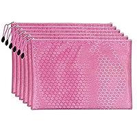 5ピースA4ファイルポケット学生文房具紙組織ファイルジャケットスクールオフィス、ピンク