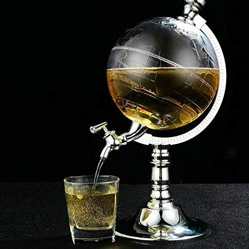 Tischplatte Bier-/Getränkespender in Kugelform 3,5l mit Eis–geeignet für jedes kalte Getränk, Cocktails, Saft, Wein–Großartig für Events, Partys und BBQ's