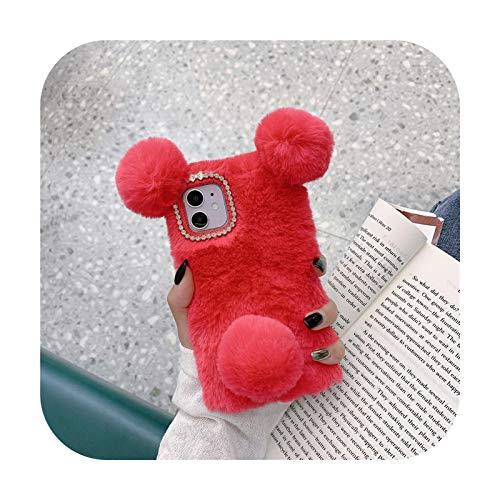 Funda para Samsung Galaxy A02S A42 5G A51 A71 A50 A70 A30S A21S S30 Ultra S20 FE S21 Plus Note 20 TPU Lindo Panda Felry Phone Case Case Rosa Rojo - Para S20 Ultra