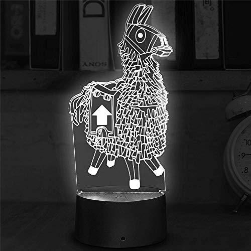 Lámpara de escritorio de Llama Lava Lámparas para dormitorio 16 colores Control táctil Decoración de fiesta, lámpara 3D Visual para decoración del hogar, regalos de cumpleaños de Navidad
