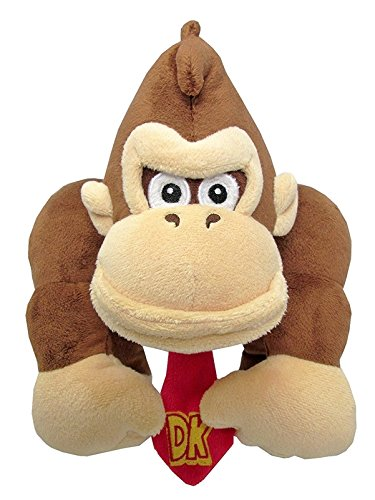 Little Buddy Super Mario All Star Collection 1586 Donkey Kong Stuffed Plush, 8""
