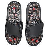 SALUTUY Zapatillas De Baño, Múltiples Botones De Masaje Que Alivian El Dolor Zapatillas De Reflexología para Baño para Viajes(40-41)