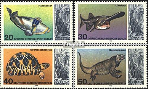 Prophila Collection Berlin (West) 552-555 (kompl.Ausgabe) 1977 Berliner Aquarium (Briefmarken für Sammler) Amphibien / Reptilien / Saurier