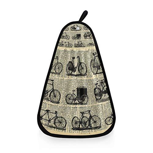 Gant de Toilette très Absorbant Serviette de Bain Gant de Toilette Ultra Doux Journal rétro vélo Polyvalent