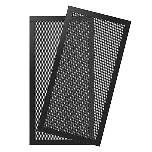 MoKo 120 x 240mm Dust Filter for Computer Cooler Fan, [2 Pack] Magnetic Frame PC Fan Dust Mesh PC Cooler Filter Dustproof PVC Cover Computer Fan Grills - Black