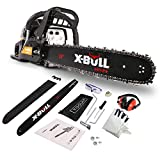 x-bull New 62cc Chainsaw 20' Gas Chainsaw 20 Inch Petrol Chainsaw Bar Gasoline Powered Chainsaw 62cc Engine Wood Cutting 2-Cycle