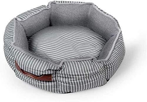MISS KANG Cama de gato redonda Donut Kitty y perro cojín cama, cama para mascotas para gatos o perros pequeños, parte inferior antideslizante resistente al agua, Sup. Qingchunw (tamaño: mediano)