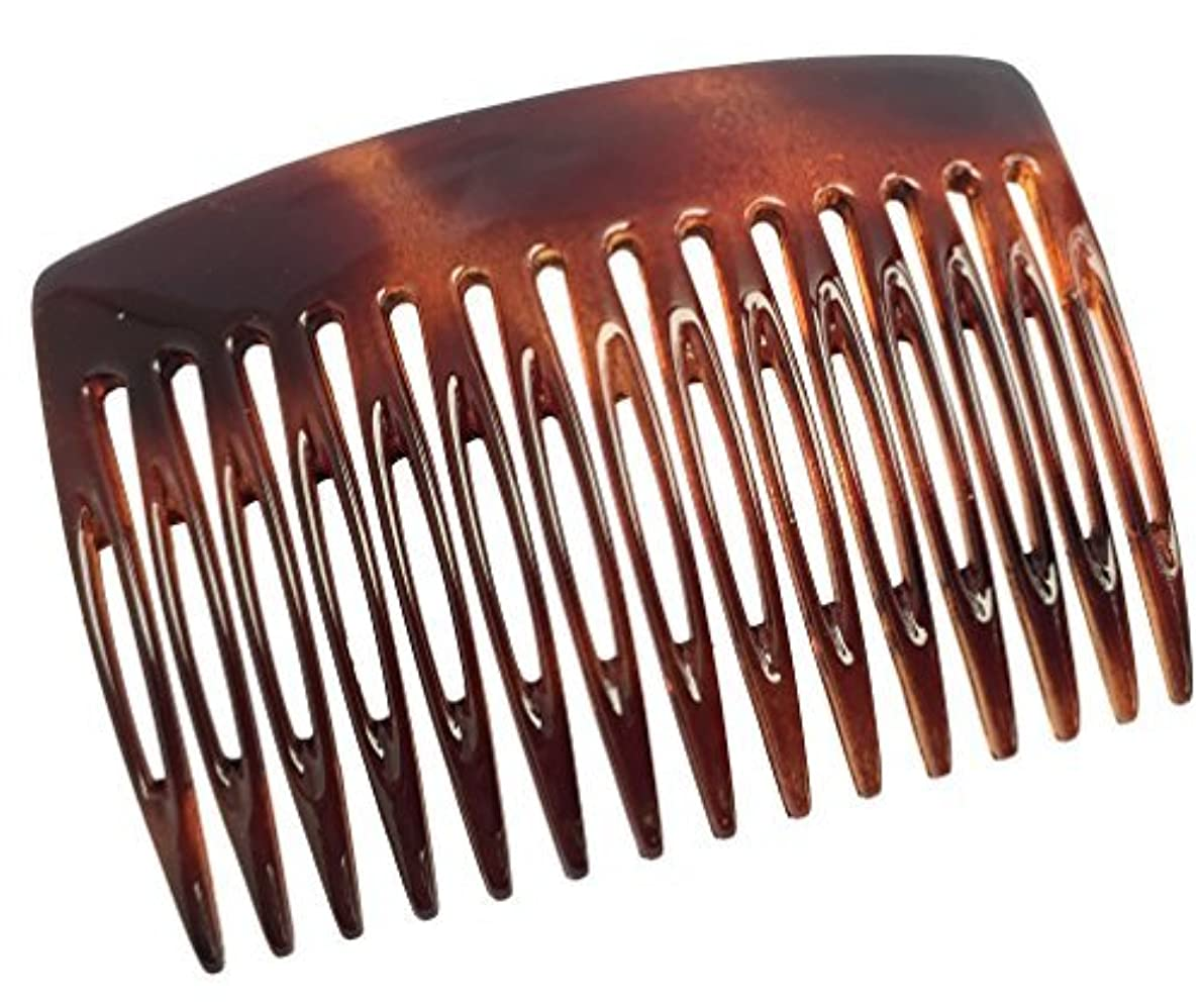 で出来ているそれにもかかわらずバーチャルParcelona French Nice N Simple 2 Pieces Cellulose Tortoise Shell 7 Cm Side Hair Comb Combs [並行輸入品]