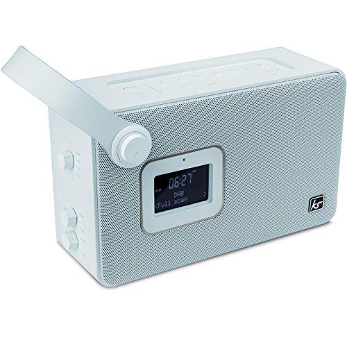 KitSound Air Tragbares DAB/FM/Bluetooth Radio Lautsprecher Radiowecker mit Snooze und Sleep Funktionen Kompatibel mit iOS/Android Bluetooth-fähigen Geräten - Blau