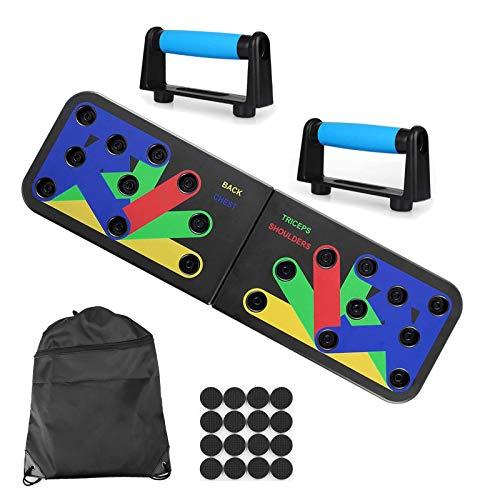 Push Up Board Tablero de Empuje 9 en 1 Press Up Desmontable Portátil Gimnasia de Soporte de Construcción Corporal Muscular del Cuerpo Deporte Rack Board