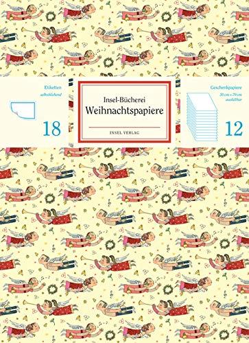 Insel-Bücherei Geschenkpapier Set 2019: Weihnachtsmotive
