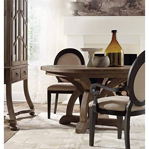 Hooker Furniture Corsica Round Extendable Dining Table In Light Wood Buy Online In Mongolia At Mongolia Desertcart Com Productid 106518506