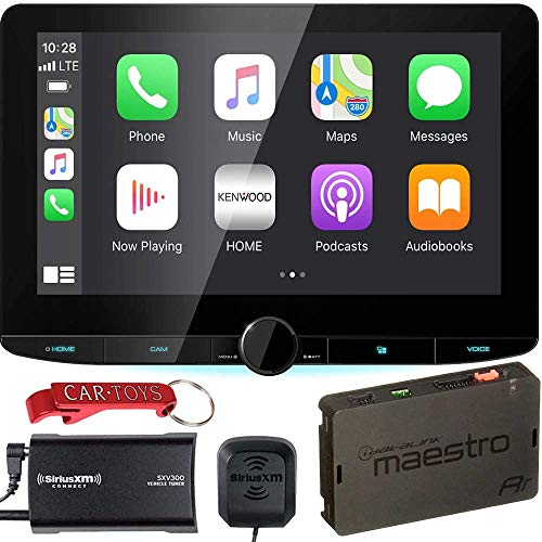 Kenwood DMX1037S Receiver Bundle with iDataLink Maestro ADS-MRR Module and SiriusXM Tuner. Extra Large 10.1' Digital Multimedia Stereo Receiver with Wireless Apple CarPlay, Android Auto.