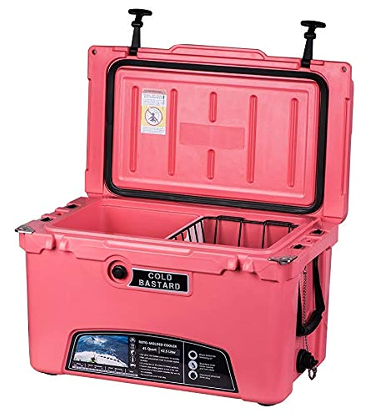 45QT Coral Pink Cold Bastard Rugged Series ICE Chest Cooler Free Accessories YETI Quality Free S&H