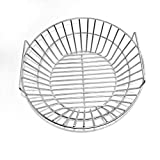 only fire Stainless Steel Charcoal Ash Basket Fits for Large BGE, Kamado Joe Classic