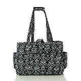 Yarn Tote Bag Knitting Bag Yarn Storage Tote (Black&White)