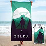 The Le-gen-d Of Ze-l-da <span class='highlight'>Forest</span> Shadow Beach Towel Quick Dry Lightweight with Pocket Soft Bath Towels Sand Free Home Outdoor Travel for Men Women Adults 31.5