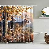 Wasserdichter & schimmelresistenter Duschvorhang mit Animal-Print D 178x198cm