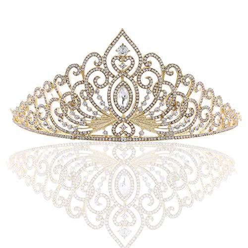 Corona da sposa in oro orecchini in diamante orecchini gioielli da sposa pettine gioielli da sposa