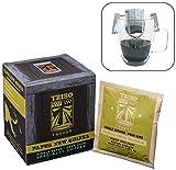 Tribo Coffee Single-Serve Portable Pour Over Drip Coffee - Specialty Grade - Papua New Guinea Wahgi Valley AA - 10 Servings Per Box (Medium-Dark Roast)