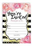 POP parties Watercolor Flower Large Invitations Graduation Invitations Wedding Shower Invitation Birthday Invitations - 10 Invitations + 10 Envelopes